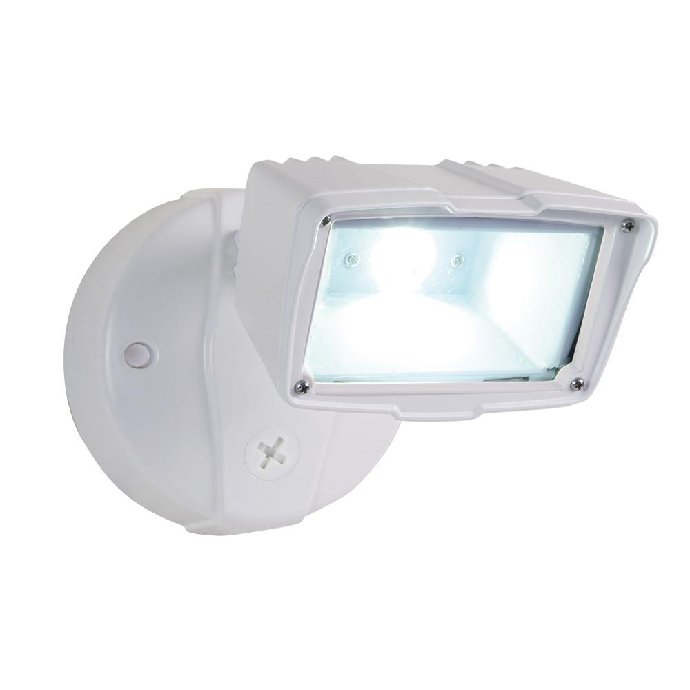 Halo White Outdoor Integrated LED Small-Head Security Flood Light ...
