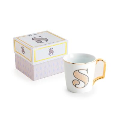 Love Letters 16 oz. White and Gold Coffee Mug S