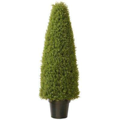 Outdoor Topiary Trees With Lights Artificial foliage topiaries outdoor decor the home depot artificial boxwood tree with dark green growers pot workwithnaturefo