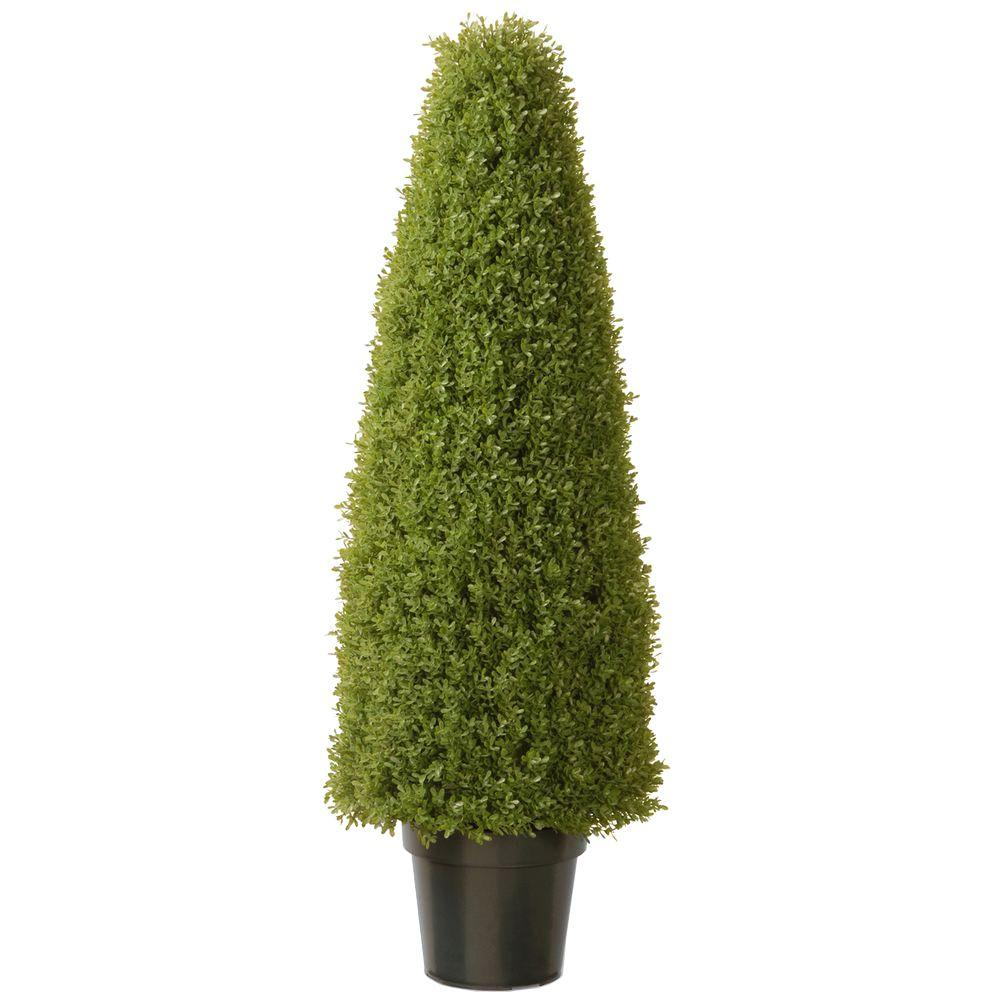 48 in. Artificial Boxwood Tree with Dark Green Growers Pot