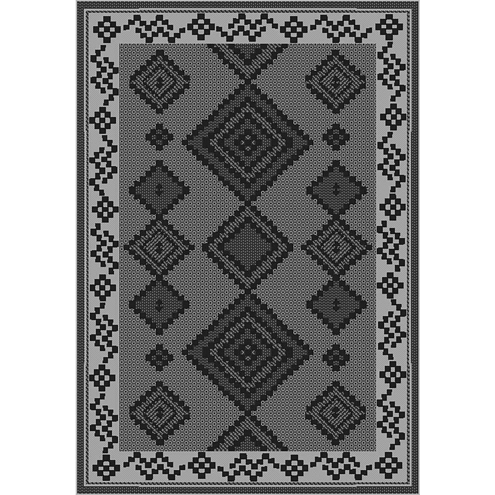 Sunshine Collection Grey/Black 5 ft. x 8 ft. Outdoor Patio Area