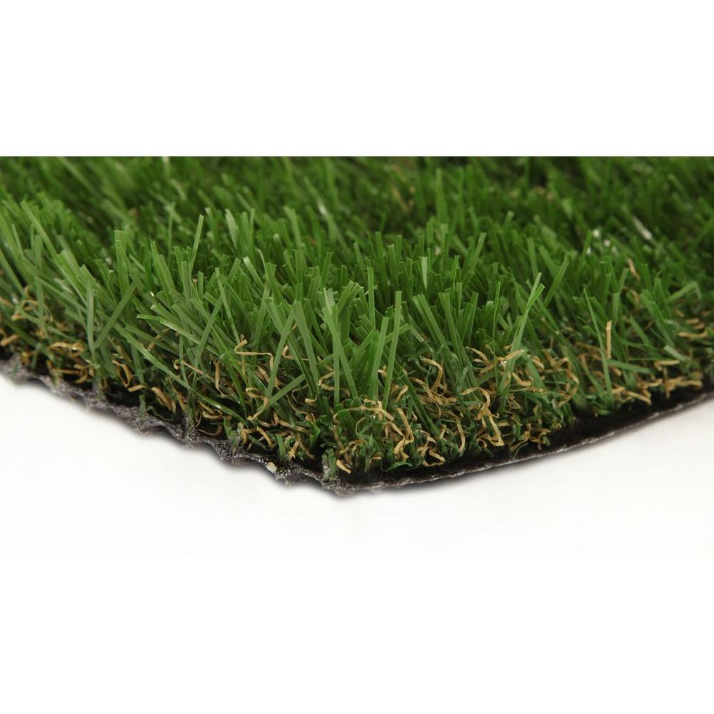 GREENLINE Jade 50 15 ft. x 25 ft. Artificial Synthetic Lawn Turf Grass Carpet for Outdoor Landscape