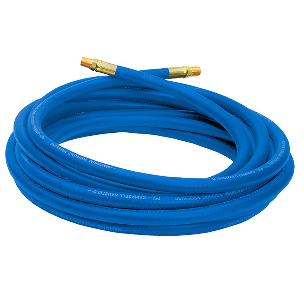 """25' Air Hose 3/8"""" ID Blue PVC"""