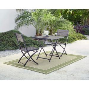 3-Piece Poly Lumber Outdoor Patio Bistro Set