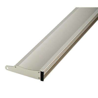 27 in. to 36 in. Semi-Frameless Contemporary Pivot Shower Door Track Assembly Kit in Nickel