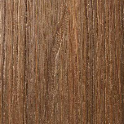 Naturale Magellan Series 1 in. x 5-1/2 in. x 0.5 ft. Peruvian Teak Composite Decking Board Sample with Groove