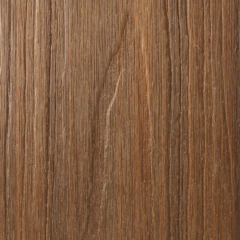 NewTechWood Naturale Magellan Series 1 in. x 5-1/2 in. x 0.5 ft. Peruvian Teak Composite Decking Board Sample with Groove