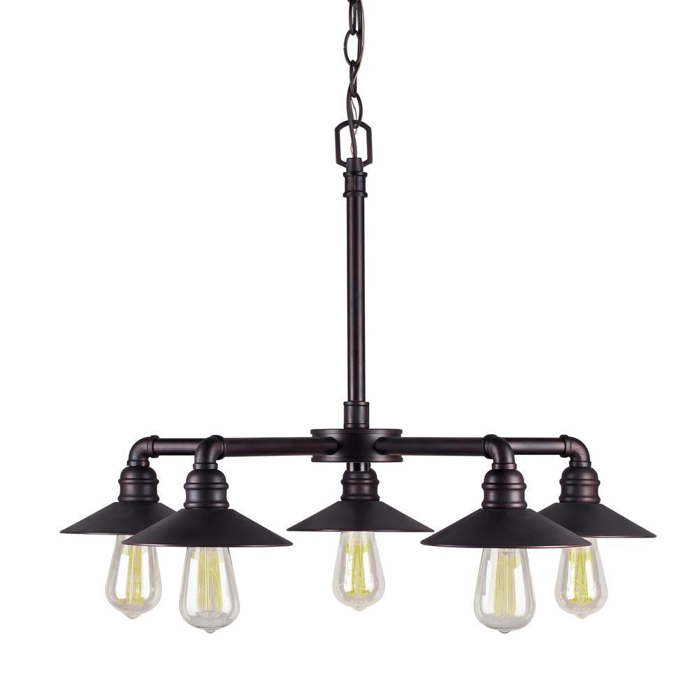 Filament design 5 light antique bronze chandelier cli frt046970 filament design 5 light antique bronze chandelier aloadofball Images