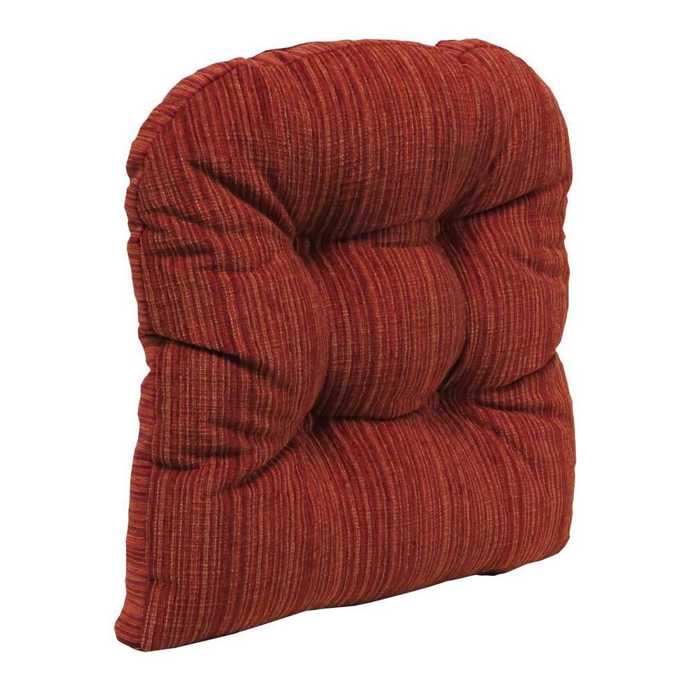 Gripper Non-Slip 17 in. x 17 in. Polar Garnet Chenille Tufted Universal Chair Cushions