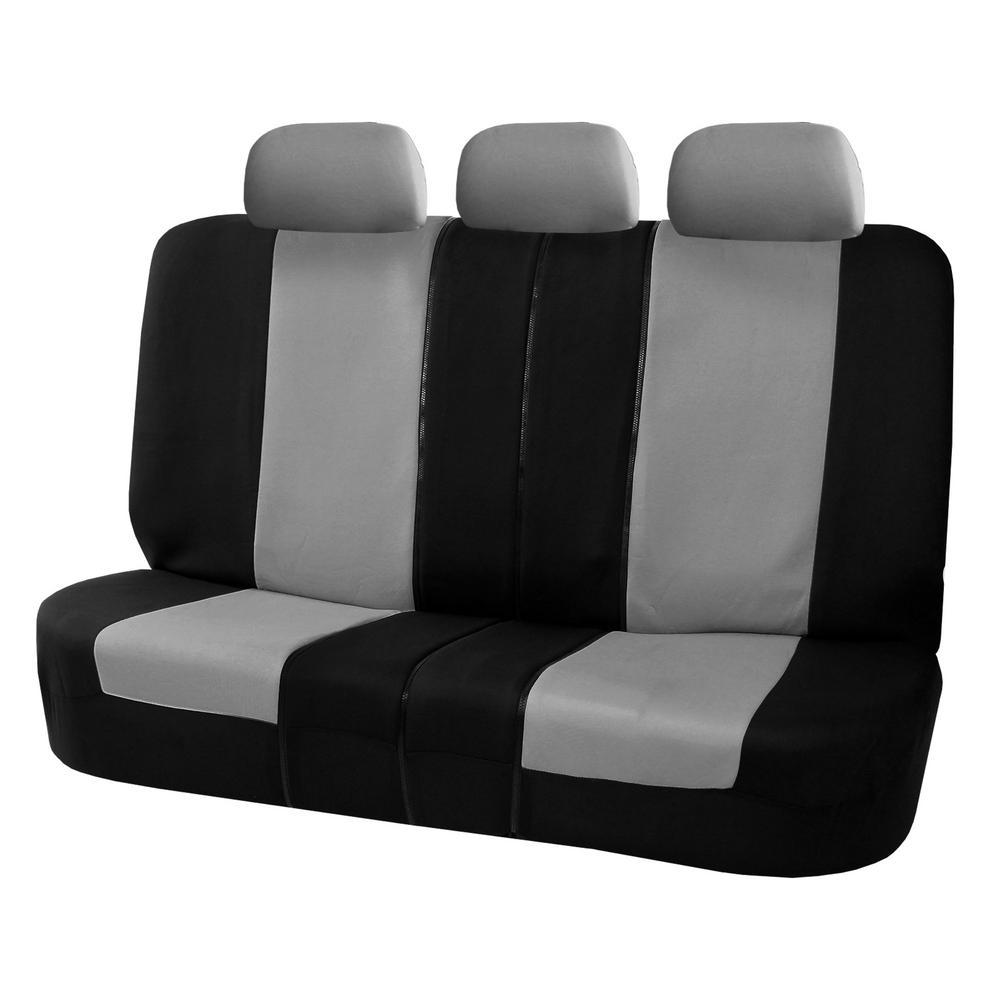 Flat Cloth 52 in. x 58 in. x 1 in. Split Bench Rear Seat Cover