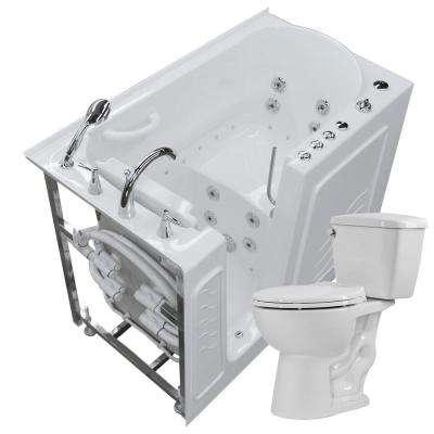 Walk In Whirlpool And Air Bath Tub In White With 1.28 GPF