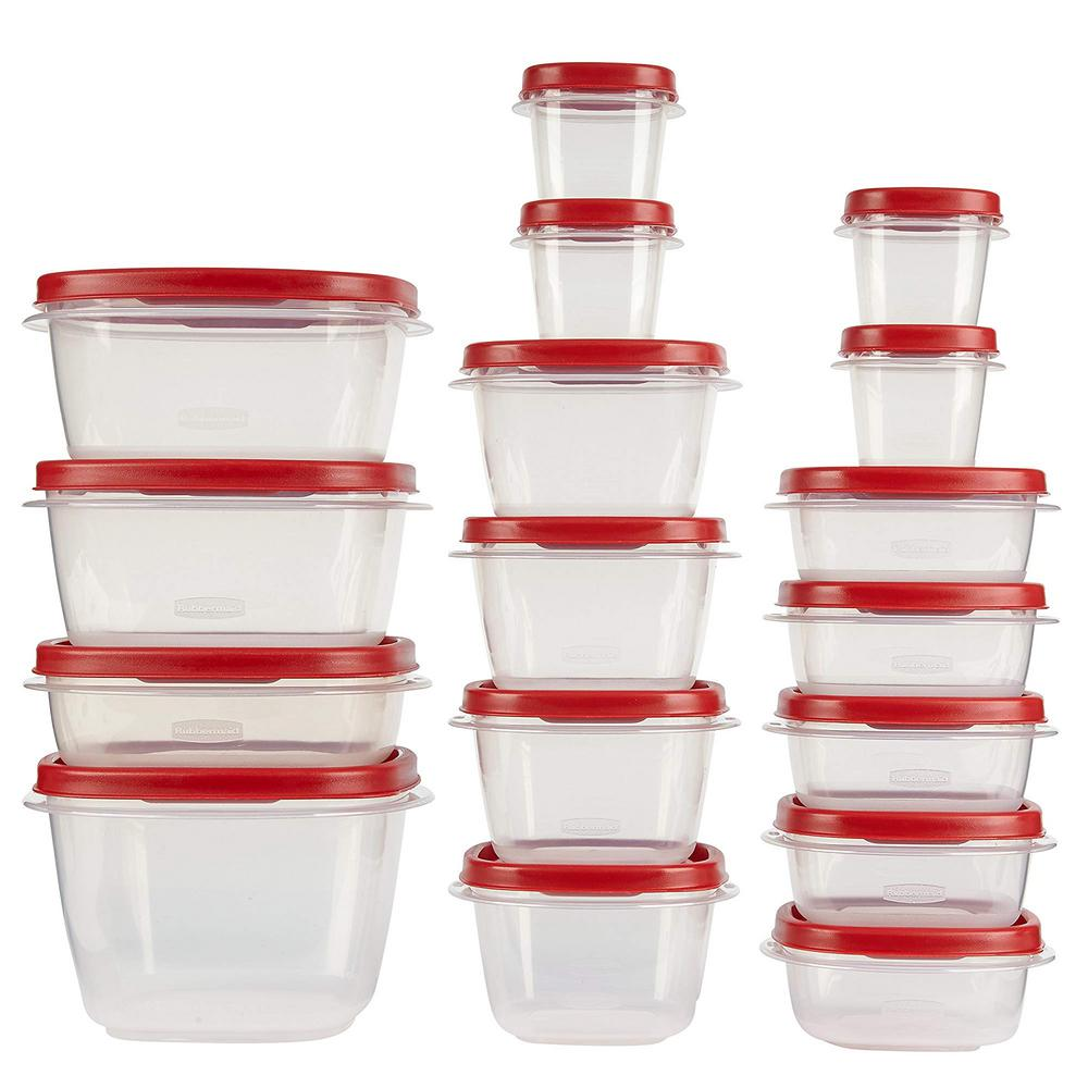 Rubbermaid Easy Find Lids Food Storage Set 34 Piece 1779216 The