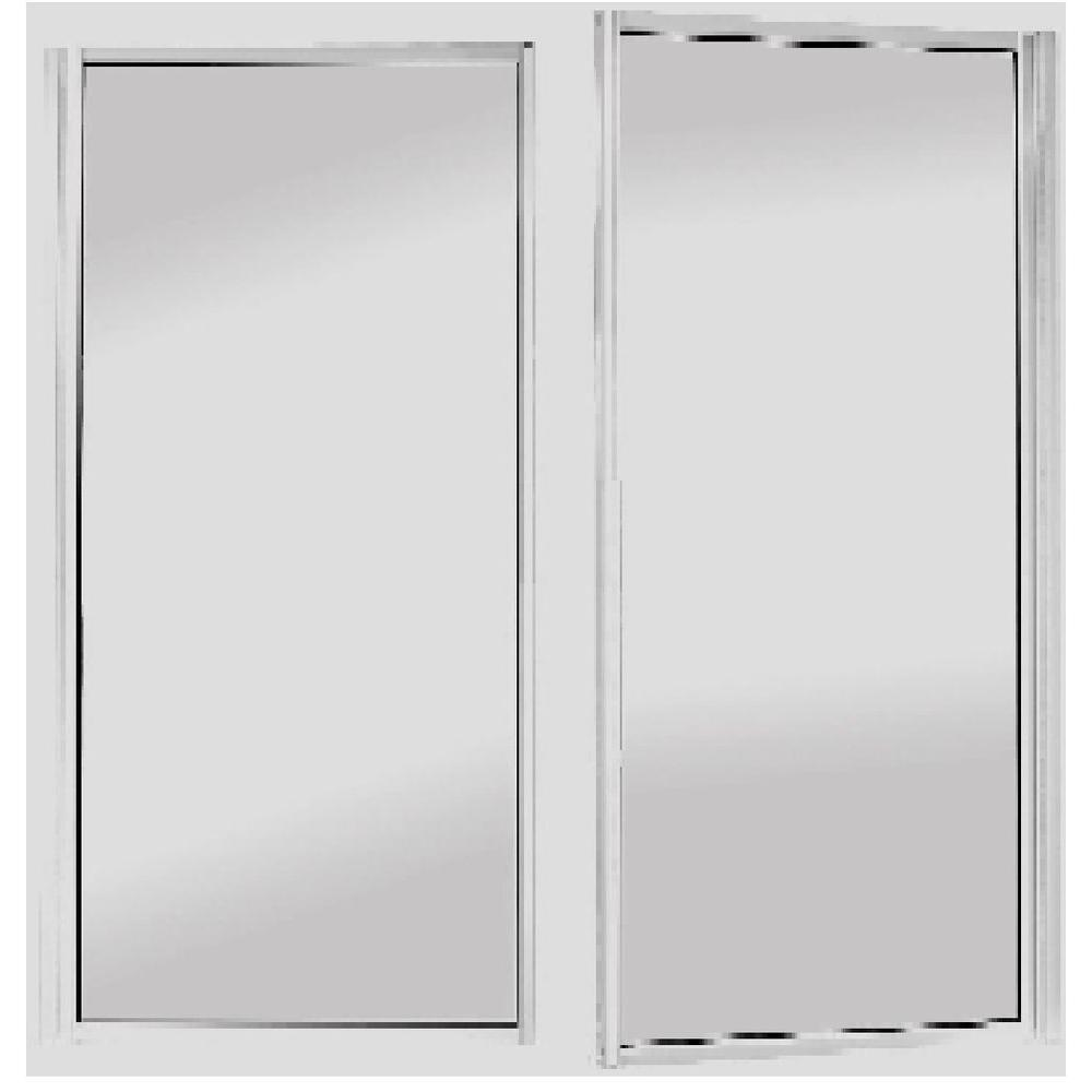 Air Master Windows and Doors 24 in. x 80 in. Mirror Aluminum Closet Sliding Door