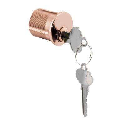 Segal 1-1/4 in. Solid Brass Keyed Mortise Cylinder