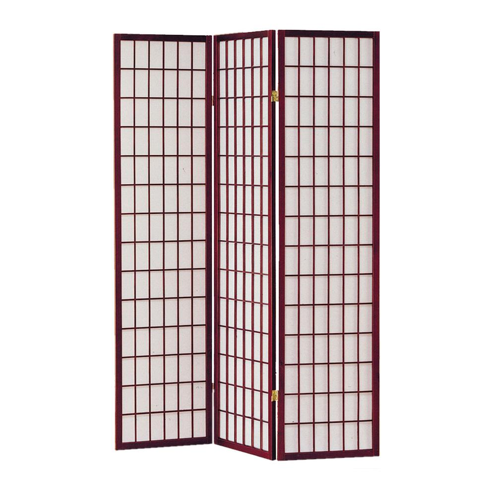Screen Gems Shoji 6 Ft Cherry 3 Panel Room Divider
