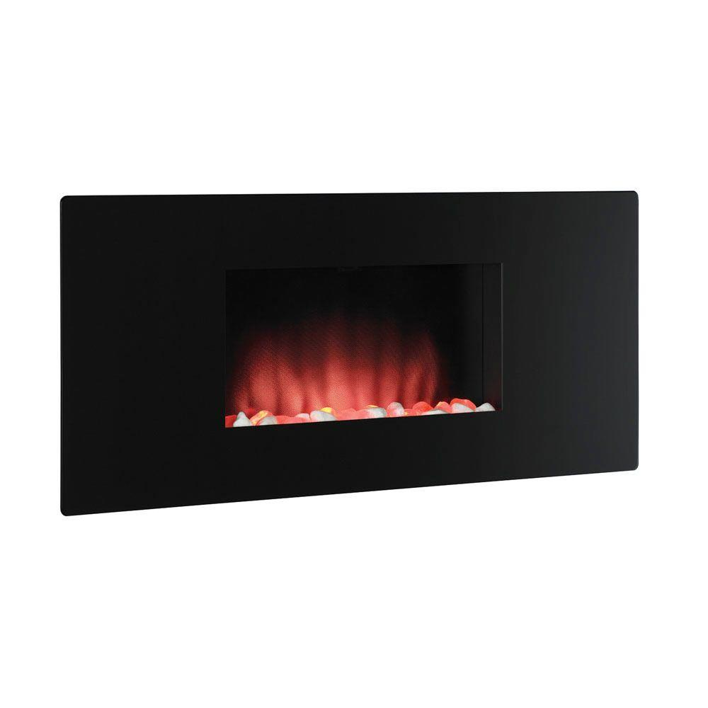 Chimney Free 35 in. Electric Fireplace in Black-DISCONTINUED