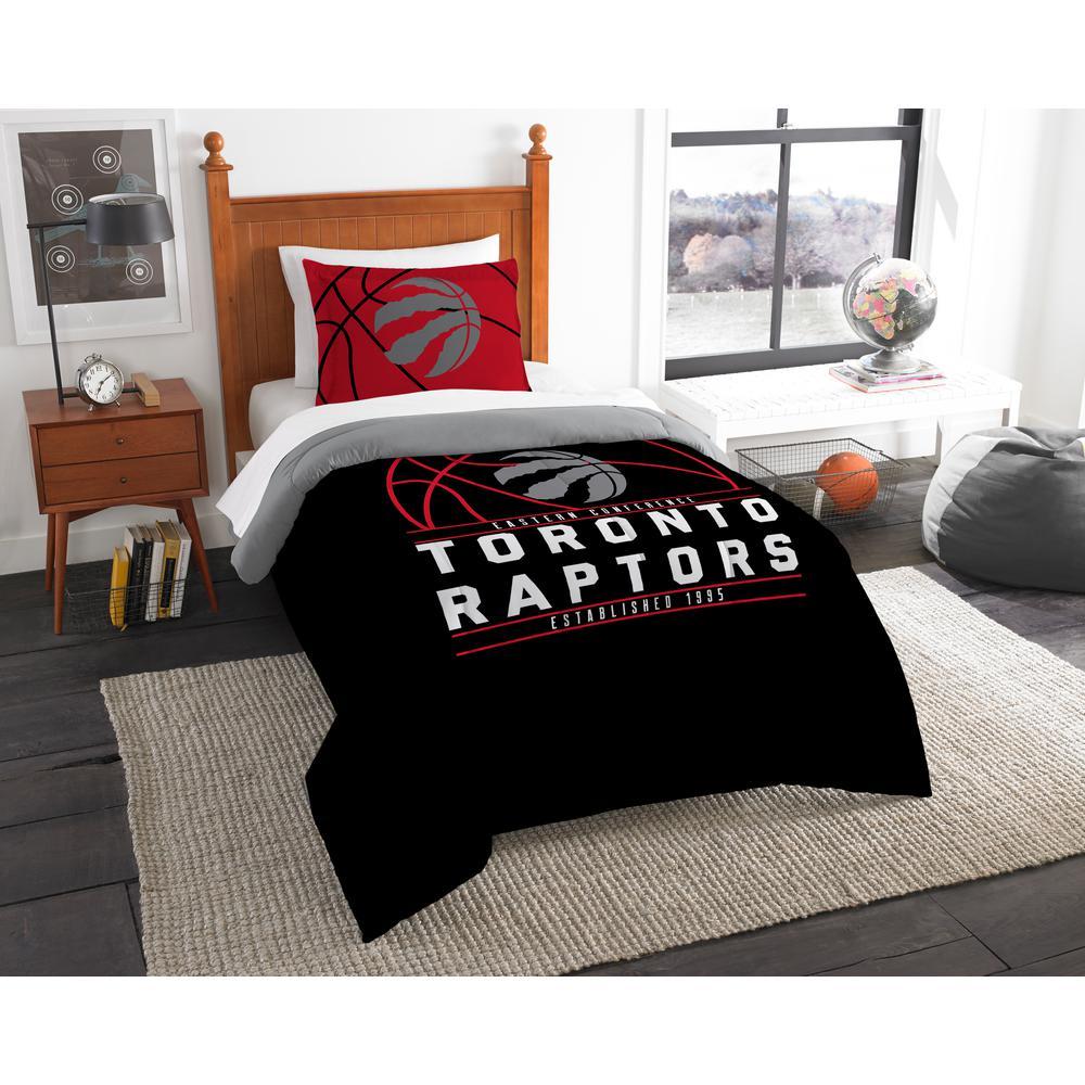 Raptors 2-Piece Multicolored Twin Comforter Set