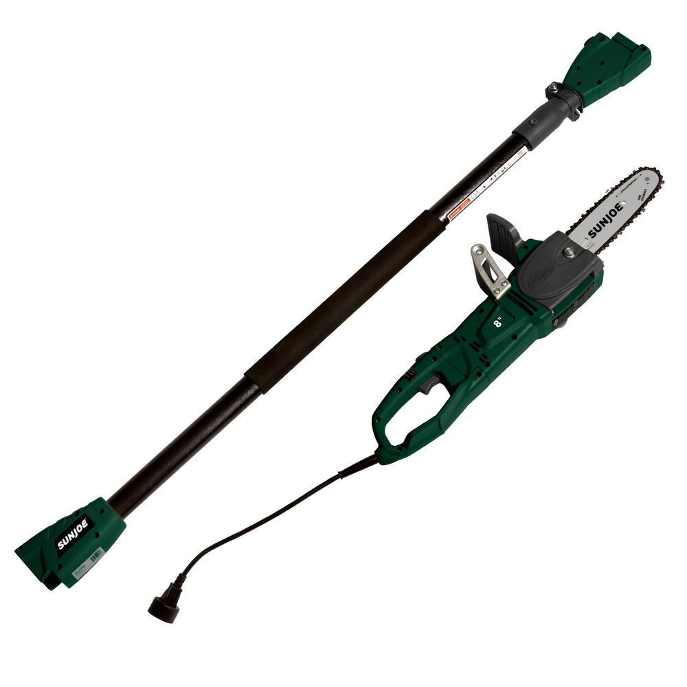 Sun joe 2 in 1 8 in 8 amp electric convertible pole chain saw 8 amp electric convertible pole chain greentooth