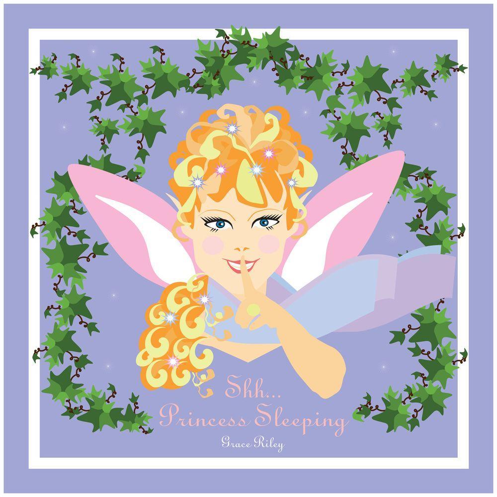 Trademark 24 in. x 24 in. Shh..Princess Sleeping Canvas Art