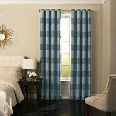 Gaultier Blackout Window Curtain Panel in Spa - 52 in. W x 95 in. L