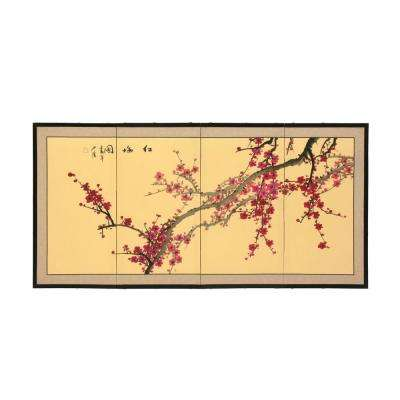 """18 in. x 36 in. """"Plum Blossom Chinese Painting"""" Wall Art"""