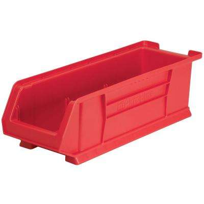 Super-Size AkroBin 8.2 in. 200 lbs. Storage Tote Bin in Red with 3.5 Gal. Storage Capacity