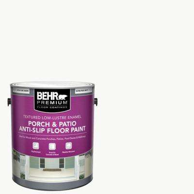 1 Gal. Ultra Pure White Textured Low-Lustre Enamel Interior/Exterior Anti-Slip Porch and Patio Floor Paint