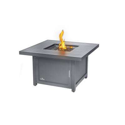 19 in. x 19 in. Hamptons Square Patioflame Table Aluminum Construction Fire Bowl