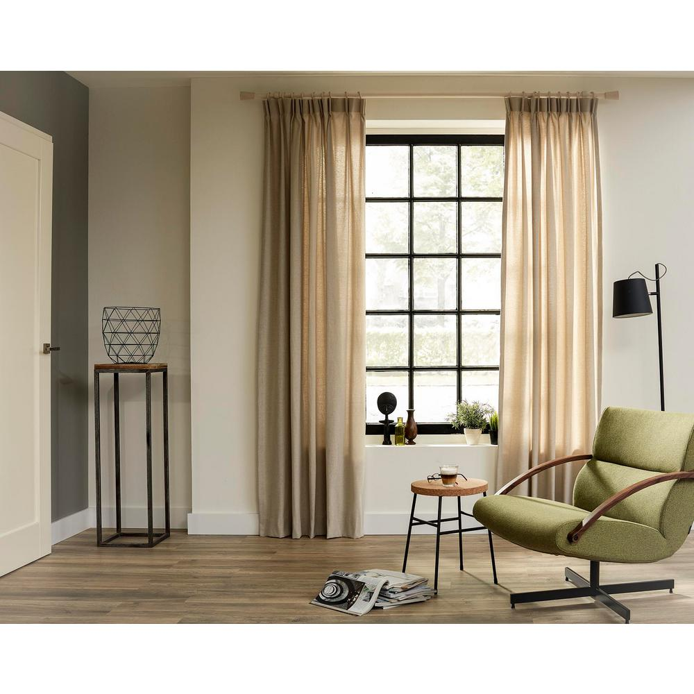 Curtain Rod Kit In Cloud With Saxo Flat Finials With Open Brackets