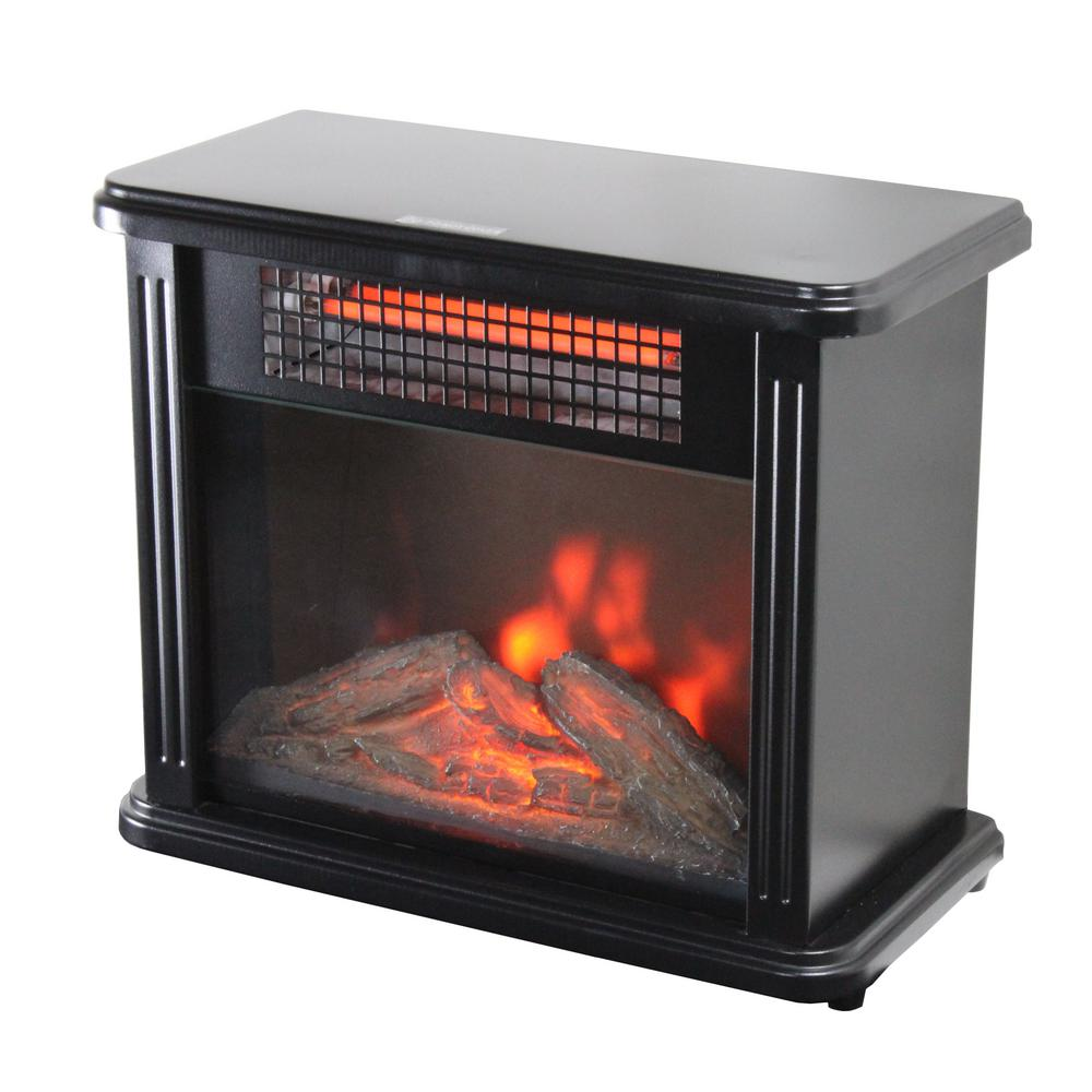 Comfort Zone 10 In 2388 Btu Portable Mini Fireplace Electric