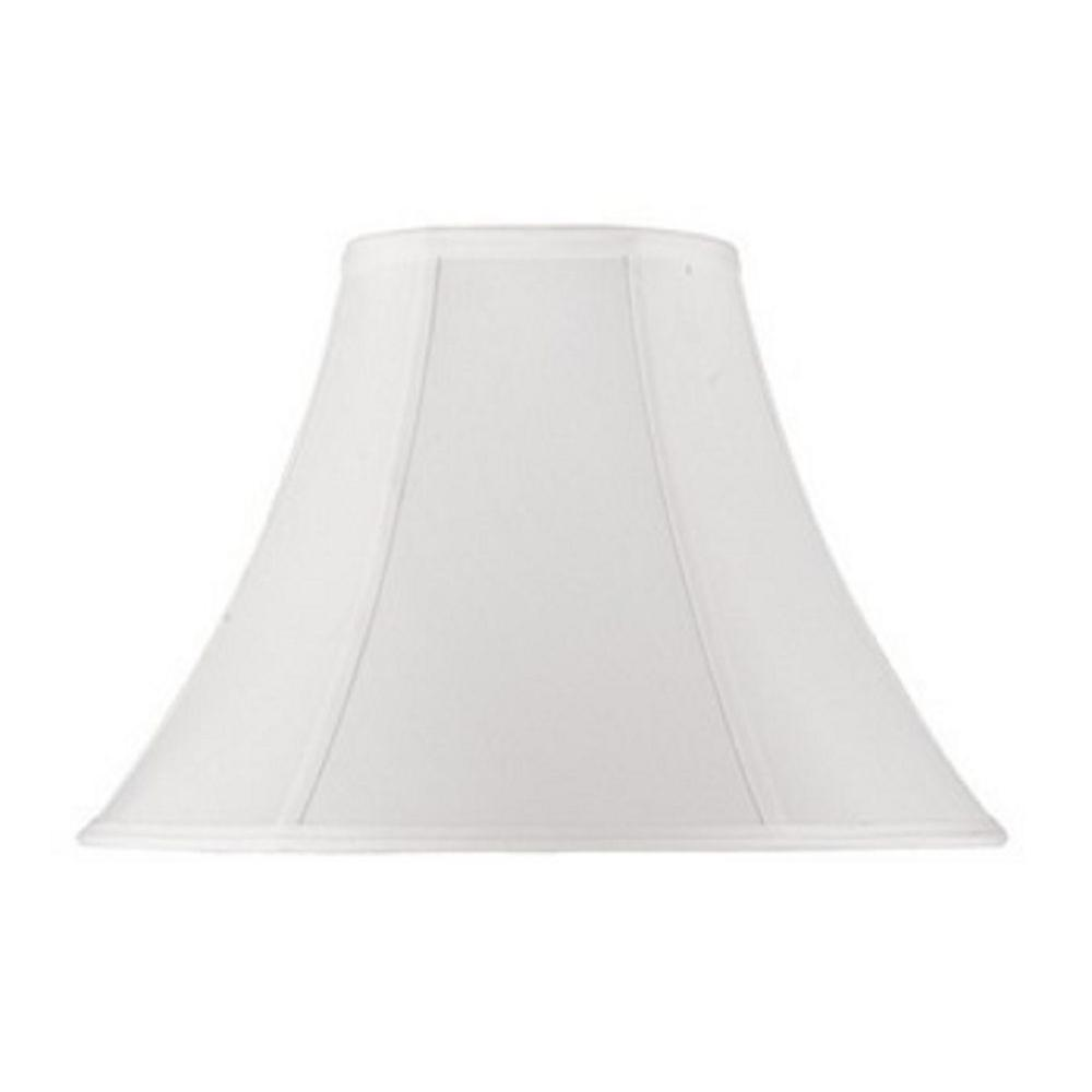 12 in. White Bell Stretched Faux Silk Shade