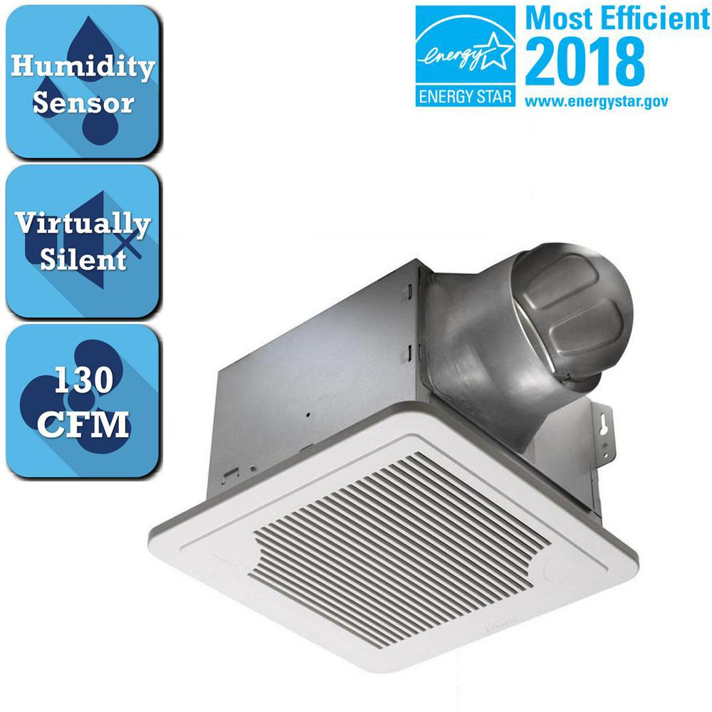 Delta Breez Smart Series 130 Cfm Ceiling Bathroom Exhaust Fan With Adjule Humidity Sensor And Sd