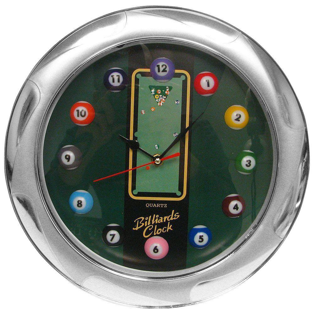 13 in. Billiards Quartz Wall Clock