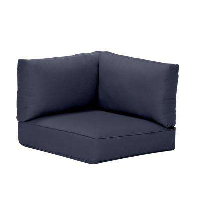 Commercial Grade Left Arm, Right Arm, or Corner Outdoor Sectional Chair Cushion in Sunbrella Canvas Navy