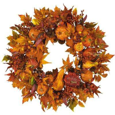 28 in. Harvest Wreath