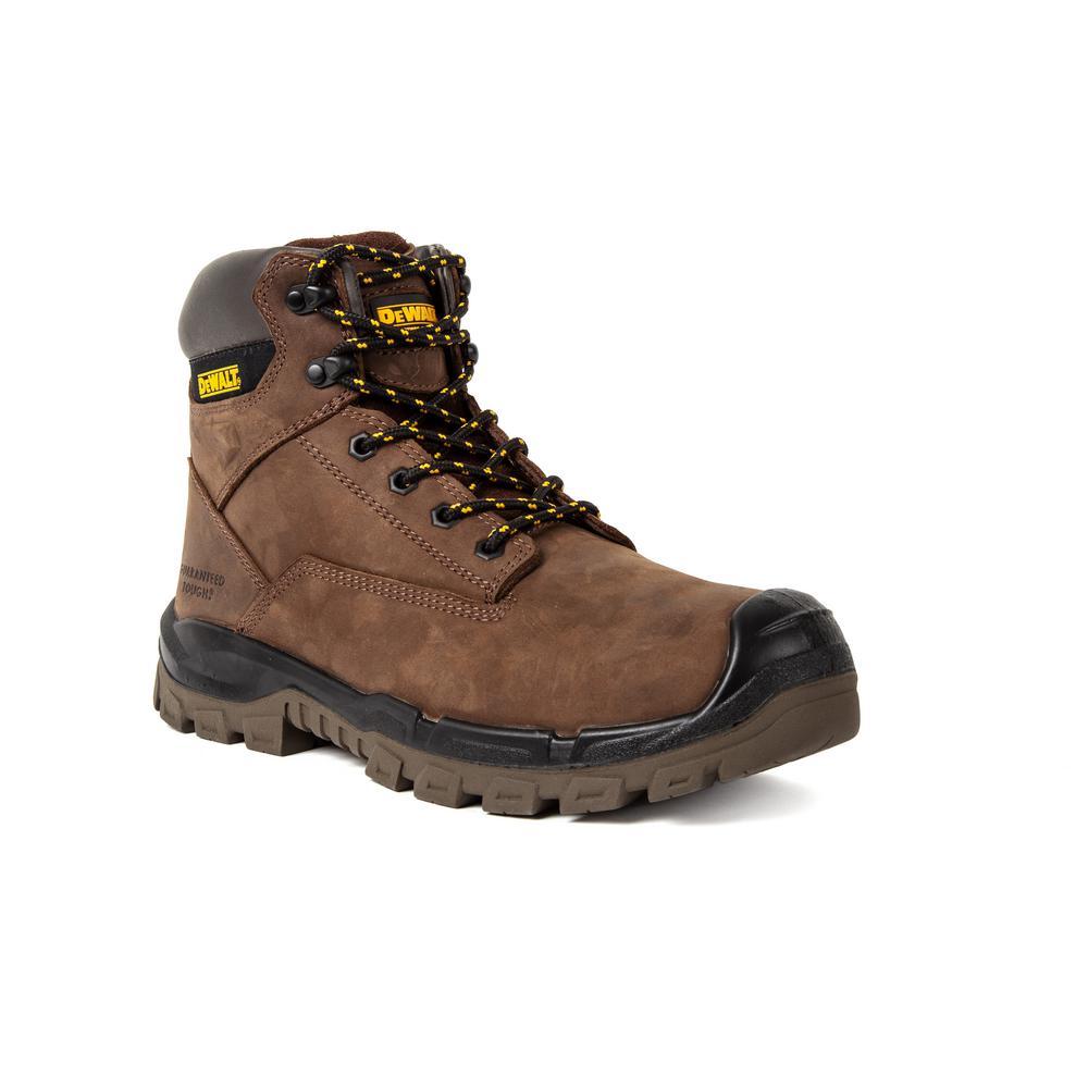 7292b21197b DEWALT Longview MT Men's Size 10.5 Dark Brown Leather Internal Met Guard  Steel Toe 6 in. Work Boot