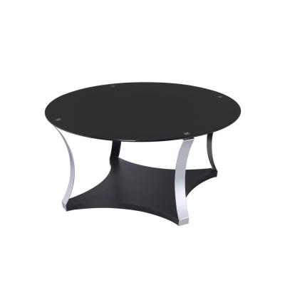 Geiger Chrome with Black Glass Coffee Table