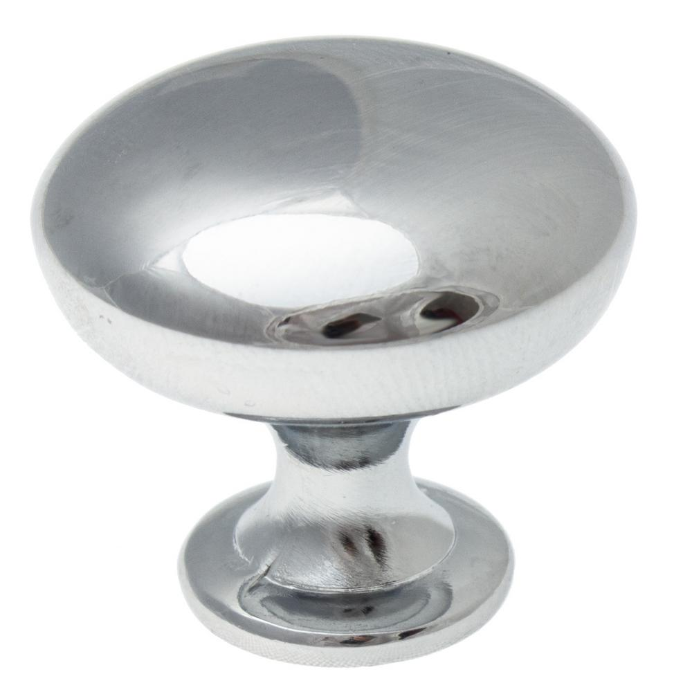 1-1/8 in. Polished Chrome Classic Round Cabinet Knob (10-Pack)