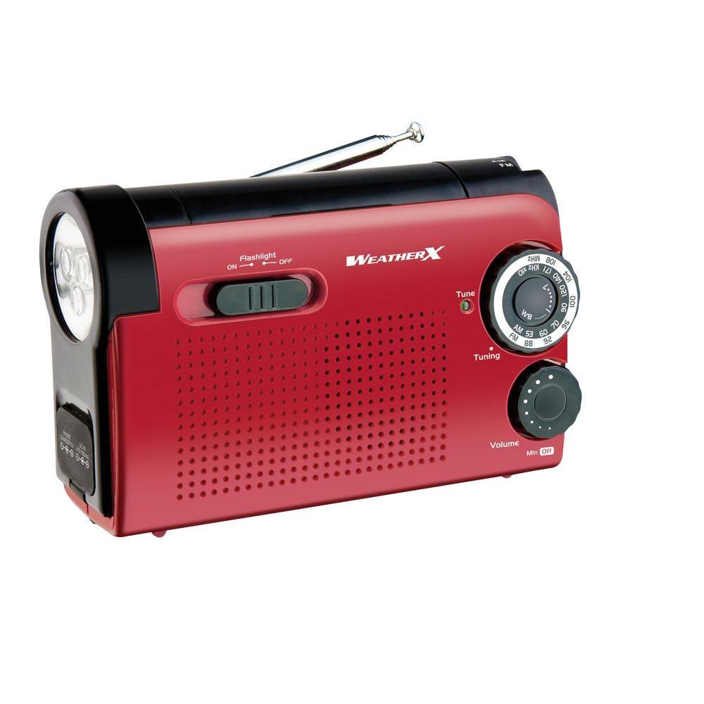 NOAA Weatherband AM/FM Radio with Flashlight