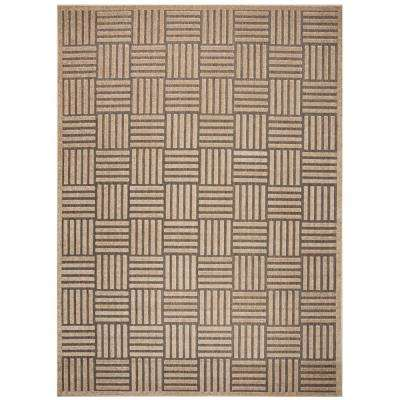 Cottage Gray/Beige 9 ft. x 12 ft. Indoor/Outdoor Area Rug