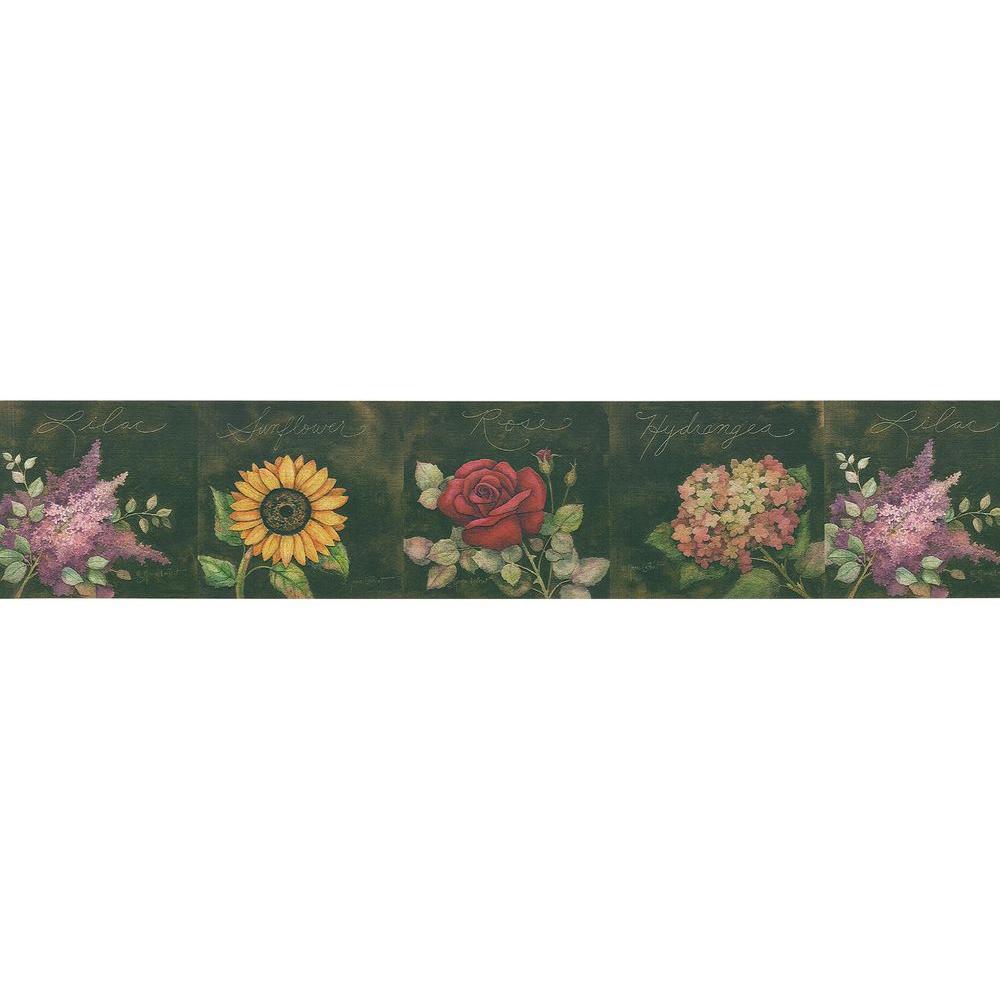 Brewster Bath Bath Bath III Old Country Florals Wallpaper Border