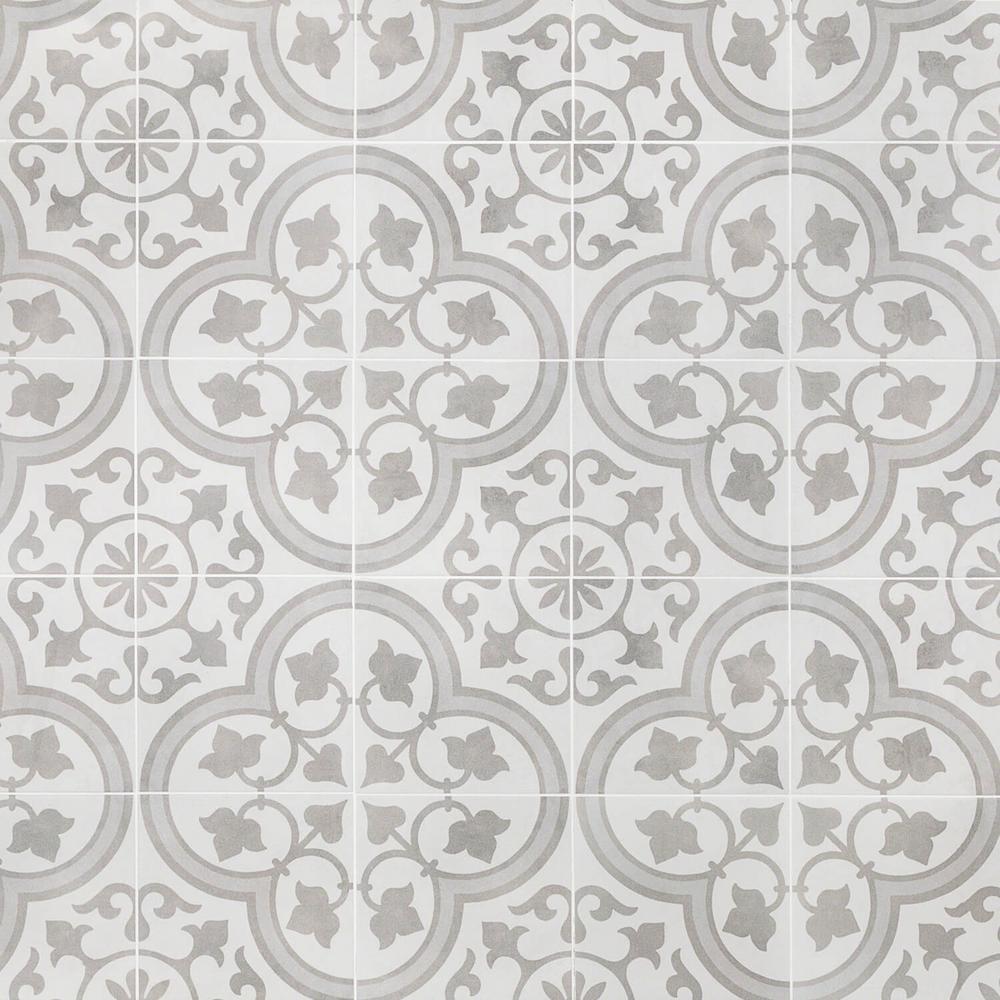 Ivy Hill Tile Sintra Silver Ornate