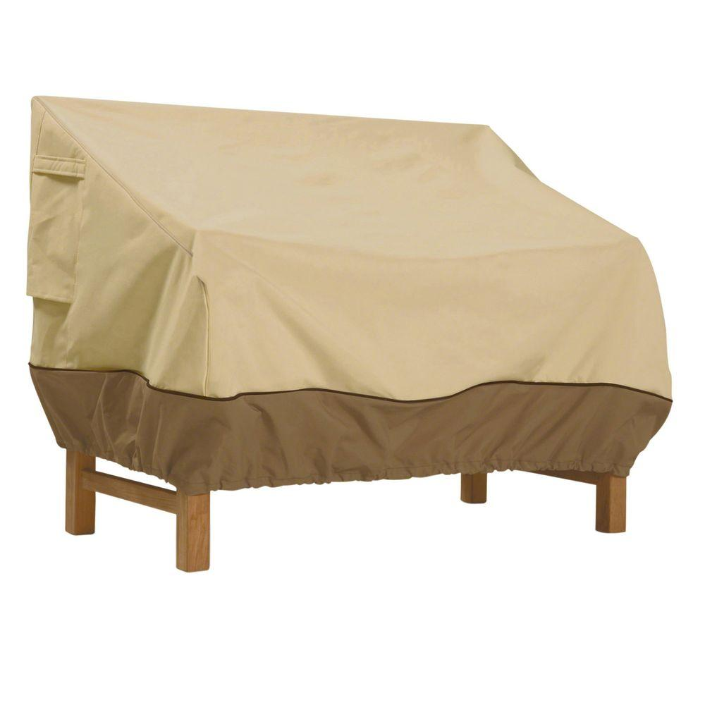 Classic Accessories Veranda 58 in  Patio Loveseat Cover 70982   The Home  Depot. Classic Accessories Veranda 58 in  Patio Loveseat Cover 70982