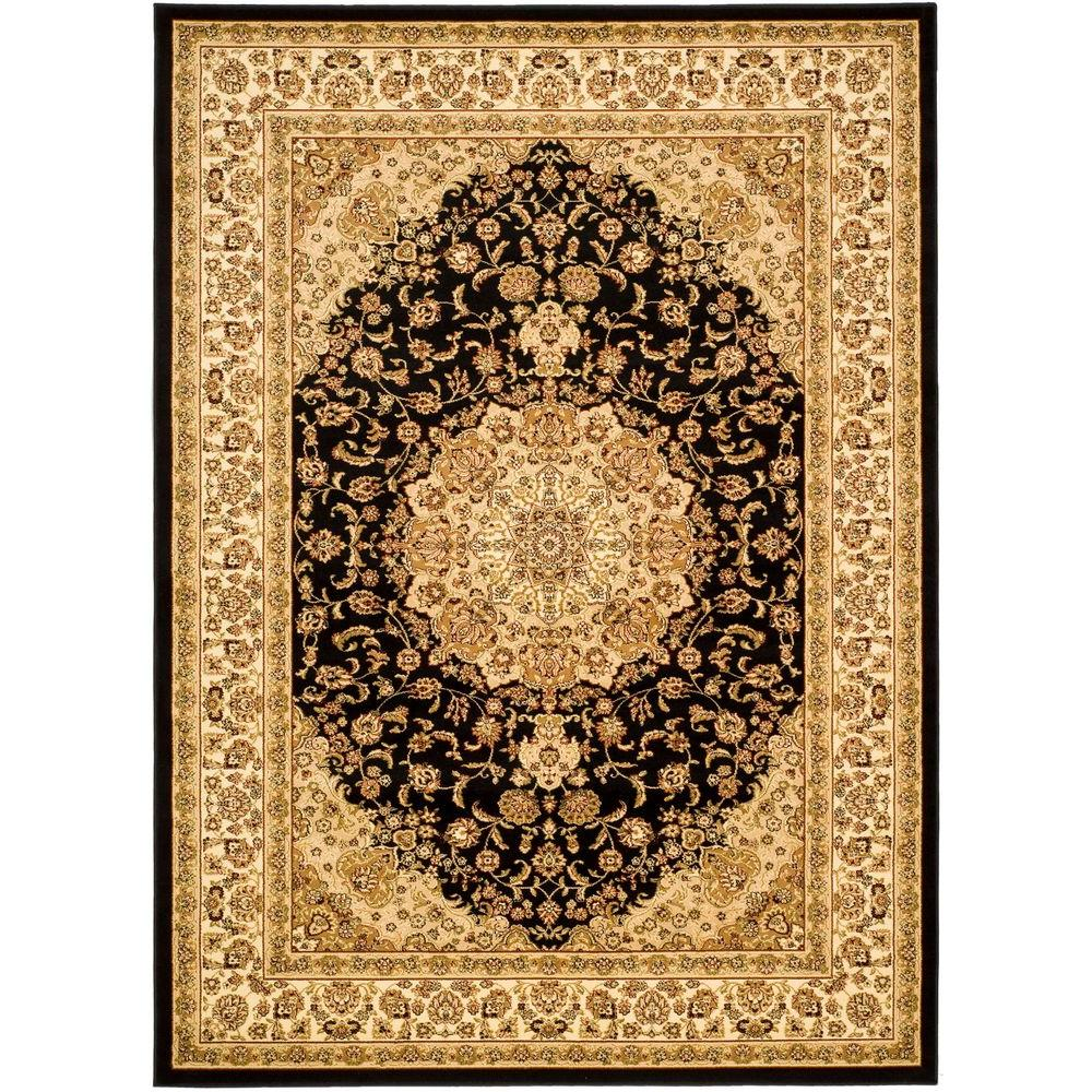 Lyndhurst Black/Ivory 8 ft. 11 in. x 12 ft. Area Rug