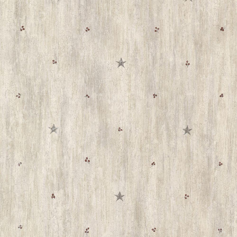 Bryndle Grey Barnstar and Sprigs Wallpaper