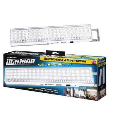 Super Bright Portable Rechargeable 60 Integrated LED White Light Bar