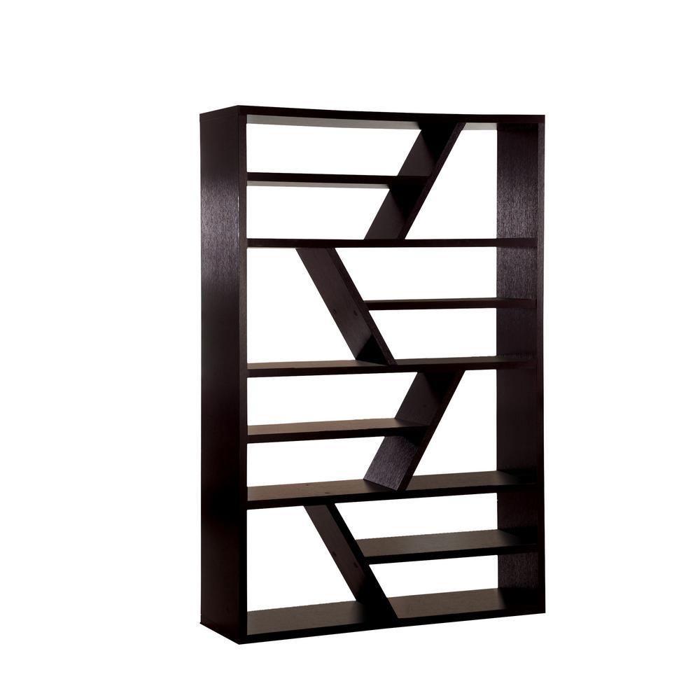 Furniture Of America Zander Espresso Bookcase Idf Ac118