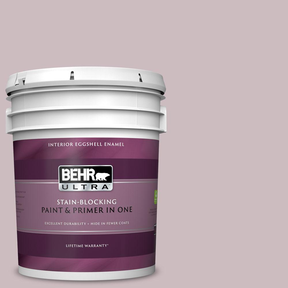 Behr Ultra 5 Gal 100e 3 Pastel Violet Eggshell Enamel Interior Paint And Primer In One
