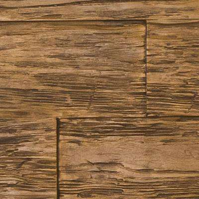 Superior Time Weathered 10 in. x 10 in. Faux Rustic Panel Siding Sample Coffee Bean