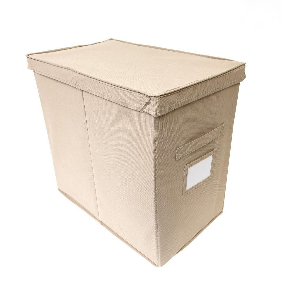 11 in. H x 16 in. W Tan Foldable 3-Cube Organizer